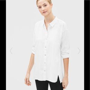 Eileen Fisher Organic Cotton Twill Classic Collar